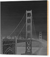 Golden Gate Bridge To Sausalito Wood Print