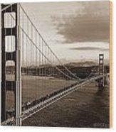 Golden Gate Glory Wood Print