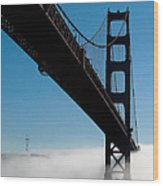 Golden Gate - In Silhouette  Wood Print