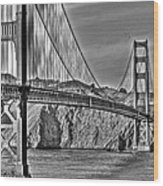 Golden Gate Over The Bay 2 Wood Print