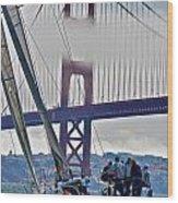 Golden Gate Sailing Wood Print