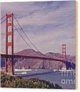 Golden Gate San Francisco Wood Print