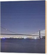 Golden Gate Silhouette Wood Print