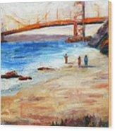 Golden Gate Stroll Wood Print