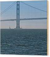 Golden Gate - The Fog Is Lifting Wood Print