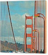 Golden Gate Walkway Wood Print