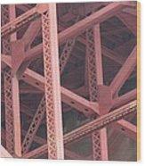 Golden Gate's Skeleton Wood Print