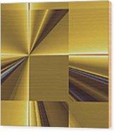 Golden Graphic Wood Print