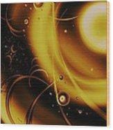 Golden Halo Wood Print by Anastasiya Malakhova