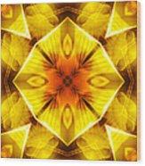 Golden Harmony - 3 Wood Print