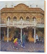 Golden Horseshoe Frontierland Disneyland Photo Art 02 Wood Print