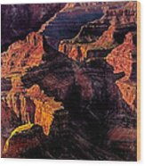Golden Hour Mather Point Grand Canyon National Park Wood Print