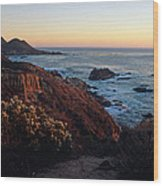 Golden Hour On Garrapata Wood Print