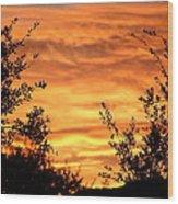 Golden Hour Sunset Wood Print