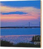Golden Isles Bridge Wood Print