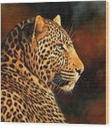 Golden Leopard Painting By David Stribbling
