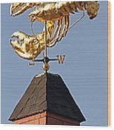 Golden Lobster Weathervane Wood Print