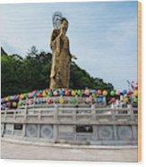 Golden Maitreya Statue, Beopjusa Temple Wood Print