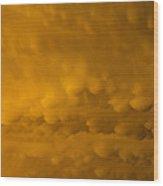 Golden Mammatus Wood Print