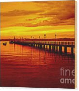 Golden Nature Wood Print by Boon Mee