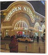 Golden Nugget Wood Print