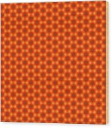 Golden Orange Honeycomb Hexagon Pattern Wood Print