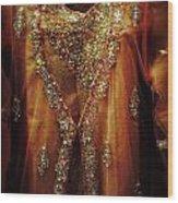 Golden Oriental Dress Wood Print