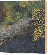 Golden Overhang Wood Print
