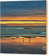 Golden Pacific Wood Print by Robert Bales
