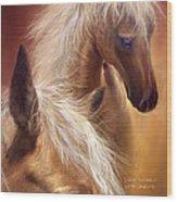 Golden Palomino Wood Print
