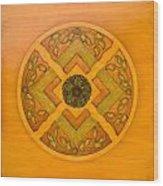 Golden Pattern 1 Wood Print