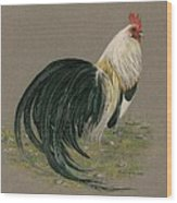 Golden Phoenix Rooster Wood Print