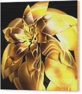 Golden Pineapple By Jammer Wood Print
