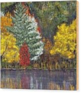 Autumn Tapestry Wood Print