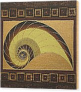 Golden Ratio Spiral Wood Print