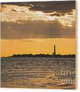 Golden Rays At Cape May Wood Print