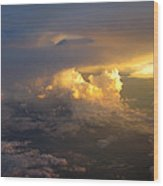 Golden Rays Wood Print