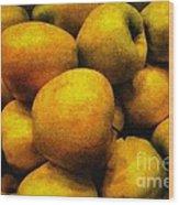 Golden Renaissance Apples Wood Print