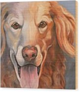 Golden Retriever Till There Was You Wood Print