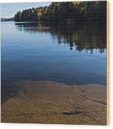 Golden Ripples Bedrock - Fall Reflection Tranquility Wood Print
