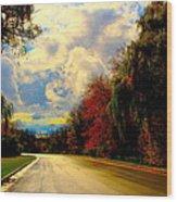 Golden Road Wood Print