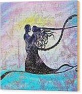 Golden Romance Wood Print