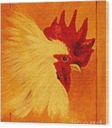 Golden Rooster Wood Print