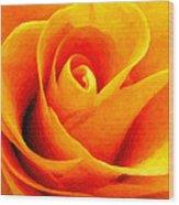 Golden Rose - Digital Painting Effect Wood Print