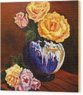 Golden Roses Jenny Lee Discount Wood Print