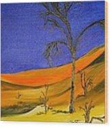 Golden Sand Dune Left Panel Wood Print