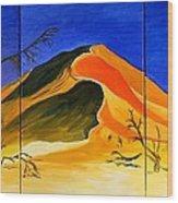 Golden Sand Dune_triptych Wood Print