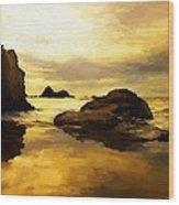 Golden Sands Wood Print