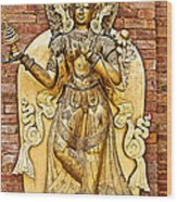 Golden Sculpture In A Hindu Temple In Patan Durbar Square In Lalitpur-nepal Wood Print