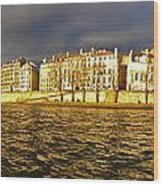 Golden Seine Wood Print